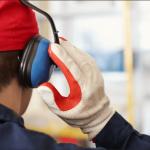 Worker wearing clean PPE